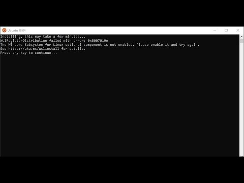 How to Solve Linux Component is Not Enabled | WslRegsiterDistribution Failed with Error in Ubuntu