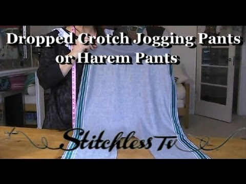 Sewing Tutorial: DIY HOW TO MAKE HAREM STYLE JOGGING PANTS online sewing class