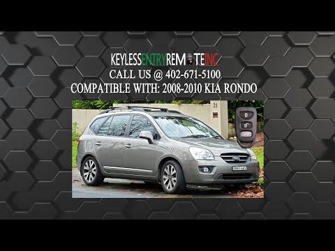 How To Replace A Kia Rondo Key Fob Battery 2007 - 2010