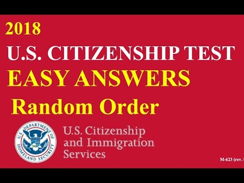 Easy Answer Citizenship Questions Practice!