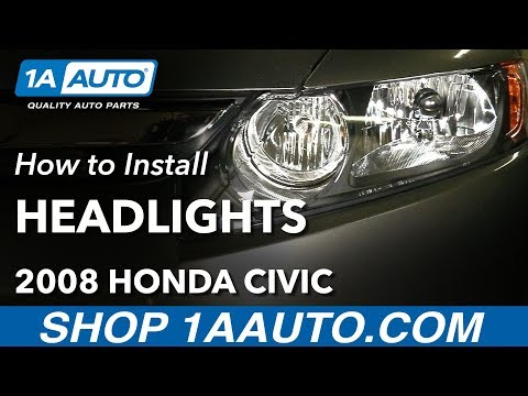 How to Install Replace Headlights 2006-08 Honda Civic