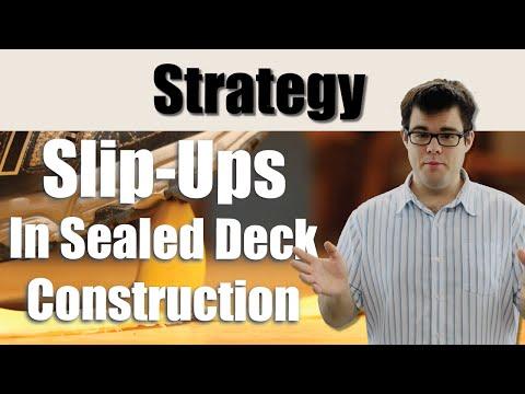 Slip-ups In Sealed Deck Construction