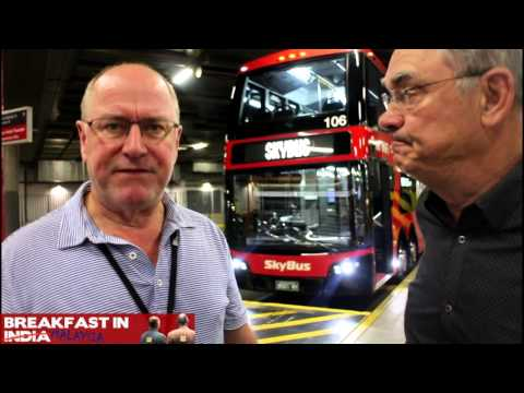 Ross and John take the SkyBus to Melbourne Airport