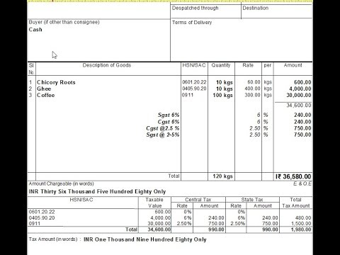 How to enter multiple gst rates in sales in tally erp9