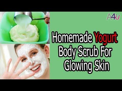 Homemade Yogurt Body Scrub For Glowing Skin
