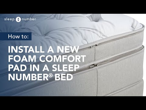 How to Open your Sleep Number Bed and Install a Foam Comfort Pad