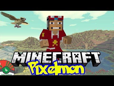 Minecraft: Pixel Man Wranglin!!! - NF Family Pixelmon Server (Pokemon Mod)