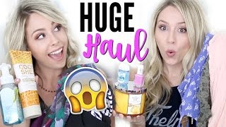 HUGE HAUL + TRY ON | Clothing, Makeup, Bath and Body Works +MORE