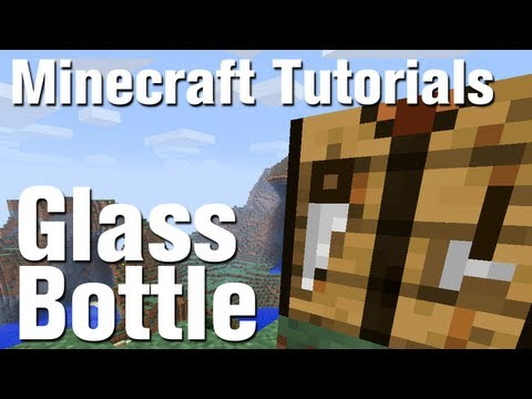Minecraft Tutorial: How to Make a Glass Bottle in Minecraft