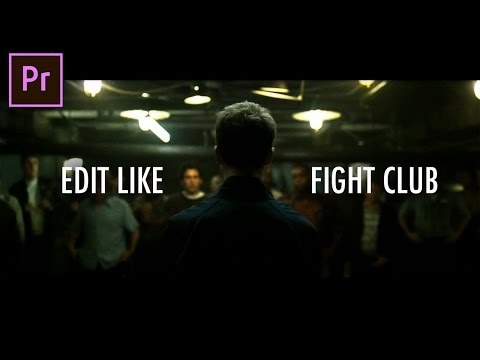 How to Glitch Cut Edit like Fight Club's Fast Flashback Scenes (Adobe Premiere Pro CC 2017 Tutorial)