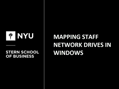 Mapping Staff Network Drives in Windows