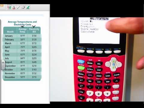 Find the best line fit (Linear Regression) with TI-84 plus (PART II)