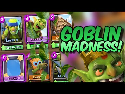 ALL GOBLIN DECK MADNESS in Clash Royale!