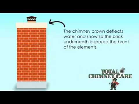 How to fix a damaged chimney crown