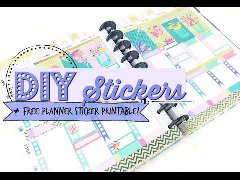 Free Printable! + How to Make Planner Stickers - Step by Step Guide