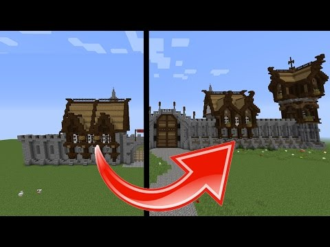 Minecraft: How To Build & Transform Medieval Buildings!