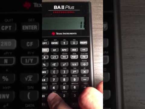Use of a scientific calculator for PV calculations
