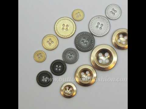 Gold button metal button  sew clothing button jacket, coat, jeans and suit