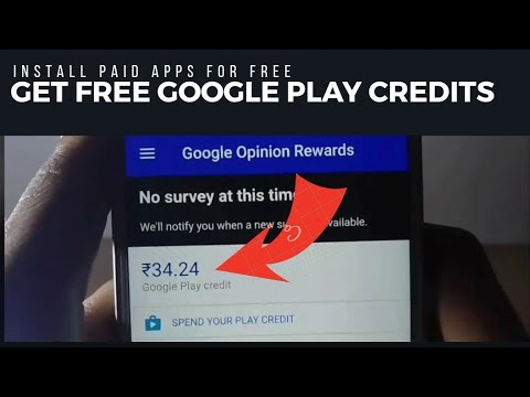 HOW TO GET FREE GOOGLE PLAY CREDITS  LEGALLY  DEMO