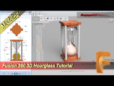Fusion 360 Design Hourglass 3D Modeling Tutorial