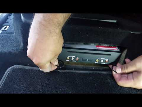 How to Remove DVD Player from Mercedes GL450 2008 for Repair.
