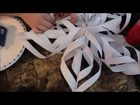DIY How to make a Christmas Paper Snowflake Tutorial