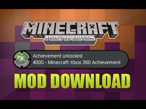 Minecraft Xbox 360 - All Achievements In 2Mins Modded Map Download!
