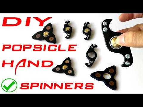 Hand Spinner fidget toy made from popsicles DIY tutorial