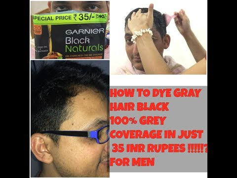 ||HOW TO DYE HAIR BLACK FOR MEN|| 100% GREY COVERAGE AT HOME IN JUST ₹35 RUPEES INDIA