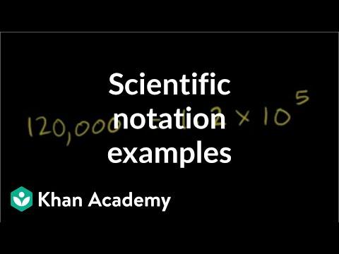 Scientific notation examples   Pre-Algebra   Khan Academy