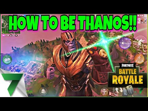 HOW TO BECOME THANOS IN FORTNITE! THE INFINITY GAUNTLET!!   FORTNITE MOBILE