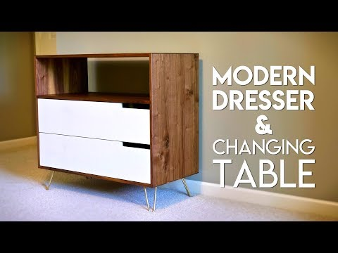 How To Make A Modern Dresser & Changing Table // Woodworking