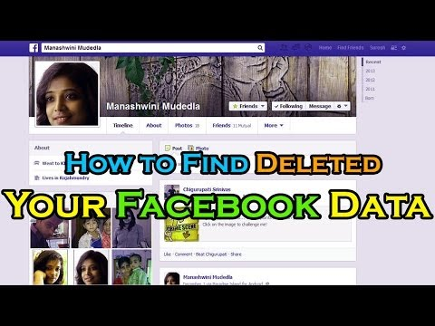 How to Find Deleted Your Facebook Data