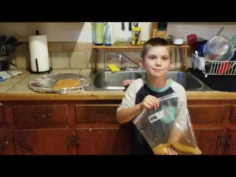 Shake and bake pork chops by Jacob!