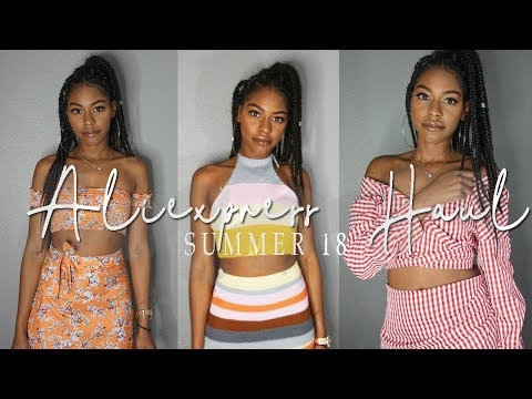 MY FIRST ALIEXPRESS CLOTHING HAUL TRY ON UNDER $10- AFFORDABLE CLOTHES FOR SUMMER/ SPRING | Syd Pink