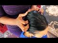 Short Hair Play | Scalp: Inspect~Comb~Scratch & Massage