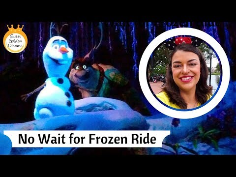 Frozen ride at Epcot: no Fast Pass and no wait!