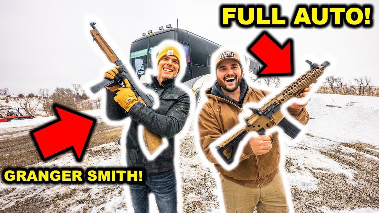 My FIRST TIME using FULL-AUTO!!! (ft. Granger Smith)