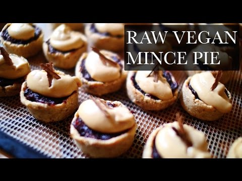 raw vegan mince pie - holiday recipe