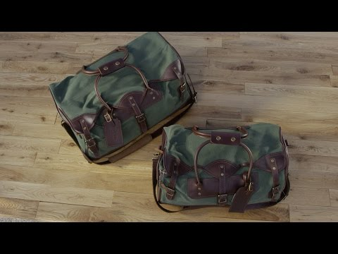 Bootlegger Leather & Canvas Small Duffle Bag