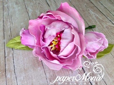 Silk foam flowers. Jedwabny foamiran easy step by step tutorial