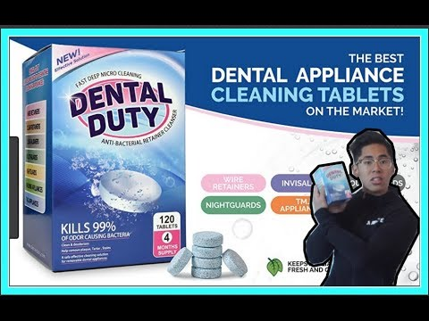 How to clean Retainers using Dental Duty Cleaning Tablets | Made In USA