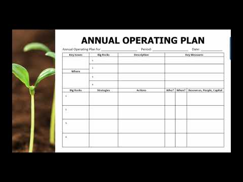 Developing an Annual Operating Plan for your business