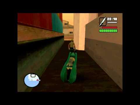MIKU stealth skill in GTA San Andreas