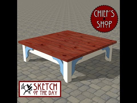 Chief's Shop Sketch of the Day: Party Table-Bench