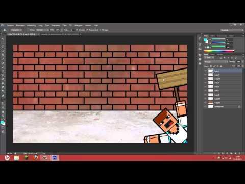 Photoshop - SpeedArt Minecraft Cartoon Background