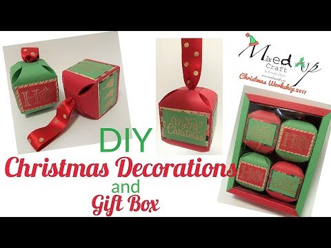 Christmas Workshop 2017 | DIY Christmas Decorations and Gift Box | Video Tutorial