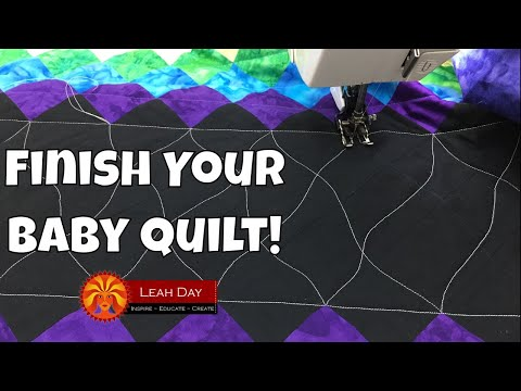 How to Quilt Your Baby Quilt with Walking Foot Quilting
