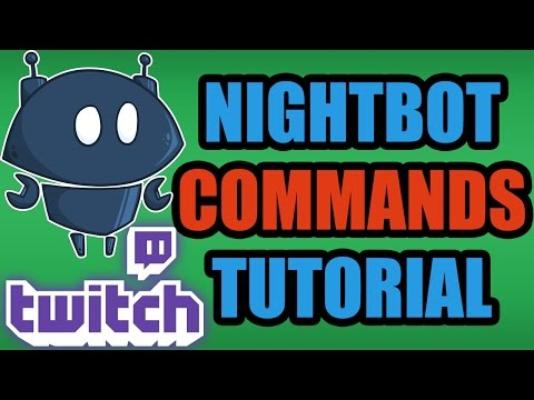 How To Add Commands To Your Twitch Stream With Nightbot - Twitch Chat Commands Tutorial