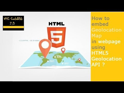 How to embed a Geolocation map in your website with HTML5 ?